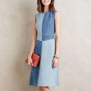 Holding Horses patchwork denim dress size 8